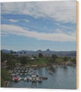 Havasu City Az Waterfront Wood Print