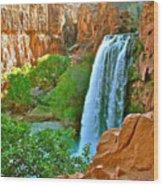 Havasu Falls Canyon Wood Print