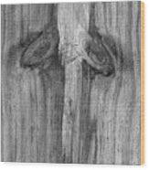 Have A Nice Day Bw Wood Print