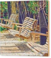 Have A Seat Relax Wood Print