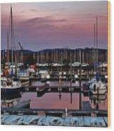 Haverstraw Marina At Dawn Wood Print