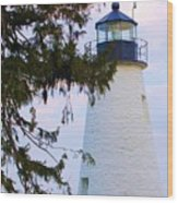 Havre De Grace Lighthouse Wood Print