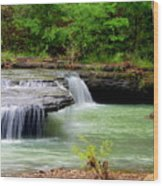 Haw Creek Falls Wood Print