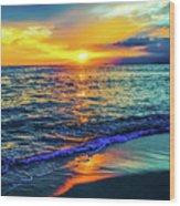 Hawaii Beach Sunset 149 Wood Print