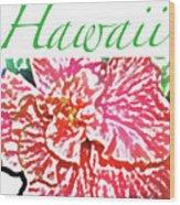 Hawaii Blush Wood Print