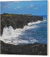 Hawaii Ocean Coast 2 Wood Print
