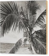 Hawaii Ocean Palm Wood Print
