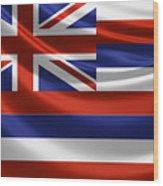 Hawaii State Flag Wood Print