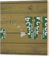 Hawaii State Love License Plate Art Phrase Wood Print