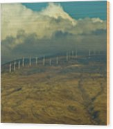 Hawaii Windmills On Maui One Wood Print