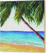 Hawaiian Beach Palm Trees  #425 Wood Print