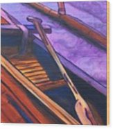 Hawaiian Canoe Wood Print by Marionette Taboniar
