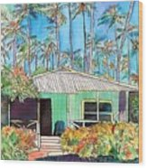 Hawaiian Cottage I Wood Print