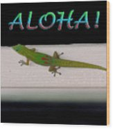 Hawaiian Gecko Wood Print