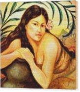 Hawaiian Girl Wood Print