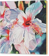 Hawaiian Hibiscus Wood Print