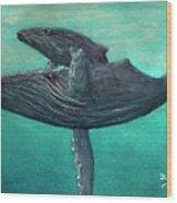Hawaiian Humpback Whales #455 Wood Print