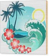 Hawaiian Island 2 Wood Print