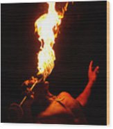 Hawaiian Luau Fire Eater Wood Print