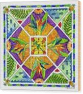 Hawaiian Mandala II - Bird Of Paradise Wood Print
