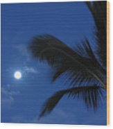 Hawaiian Moon Wood Print