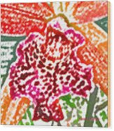 Hawaiian Orchid Wood Print