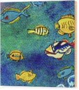 Hawaiian Reef  Fish #223 Wood Print