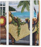 Hawaiian Still Life With Haleiwa On My Mind Wood Print