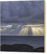 Hawaiian Sunrise Wood Print by Mike Herdering