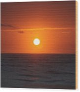 Hawaiian Sunrise Wood Print