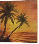 Hawaiian Sunset #380 Wood Print