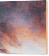 Hawaiian Sunset Clouds Wood Print