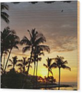 Hawaiian Sunset Design Wood Print