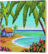 Hawaiian Tropical Beach  #364 Wood Print