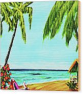 Hawaiian Tropical Beach #367  Wood Print