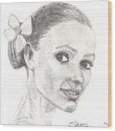 Hawaiian Woman Wood Print