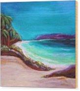 Hawaiin Blue Wood Print
