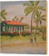 Hawaiin Cottage Wood Print