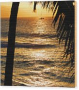 Hawaiin Sunset Wood Print