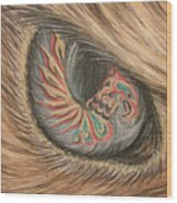 Hawk Eye Thunderbird Wood Print