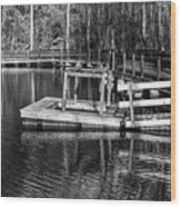 Hawk Island Michigan Dock  Wood Print