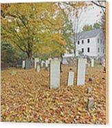 Hawke Meetinghouse - Danville New Hampshire Wood Print