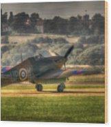 Hawker Hurricane Mk 1 R4118 Takeoff Wood Print