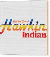 Hawkins Badge Wood Print