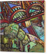 Hawthorne Bridge 2 Wood Print