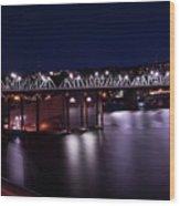 Hawthorne Bridge Wood Print