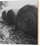 Hay Bales Paxton Ma Wood Print