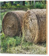 Hay Bay Rolls 3 Wood Print