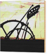 Hay Cutter Silhouette Wood Print