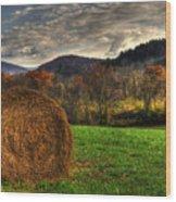 Hay Fall Wood Print